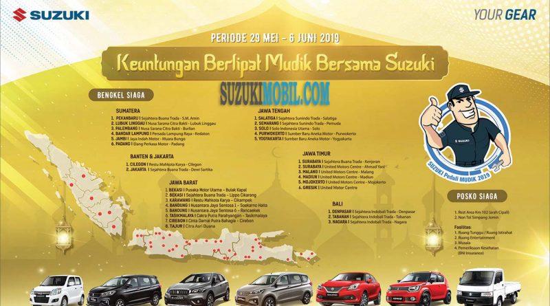 Pos & Bengkel Siaga Mobil Suzuki Mudik Lebaran 2019